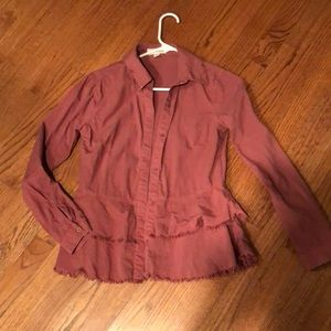 Cloth and Stone Anthropologie Mauve Tencil shirt
